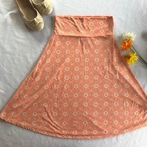 LuLaRoe Azure Salmon Pink Skirt